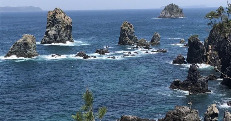 山口青海島へ